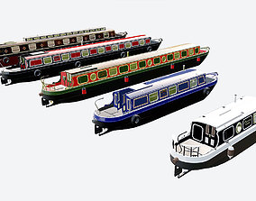 3D model English Canal Boats collection