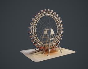 3D asset Carousel Wheel Noria VR 4k PBR