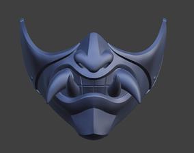 Princess Kitana female samurai mask 3D printable model 3