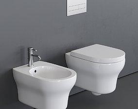 3D model Ceramica Cielo Jo Wall-Hung WC