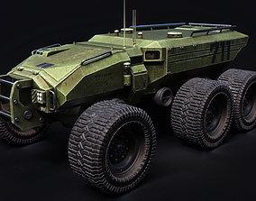 3D model Technical Vehicle transporter Green Source 3