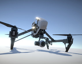 game-ready DJI Inspire quadcopter low poly model