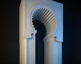 animated Islamic arc 3dmodel
