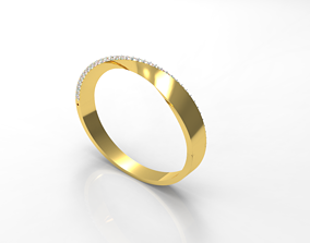 055 - Fancy Stylish Simple Bracelet 3D printable model 2