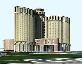 Hotel Building 3D model urban-skyscraper