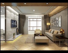 interior architectural living room 3D model
