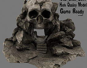 stairs Skull Cave 3D model VR / AR ready