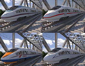 Hi-speed Train Siemens Velaro Collection 3D model
