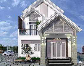 Exterior House design 3d model exterior animated