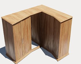3D model Wood cabinet complete textures and materials