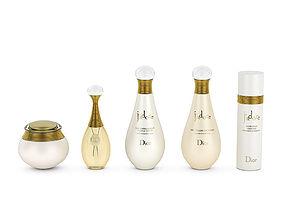 3D model Dior J adore perfume set