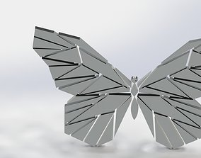 butterfly wall sing art 3D printable model