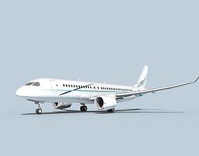 3D model Bombardier CS100 Corporate 3