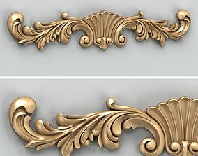 Carved decor horizontal 023 3D model