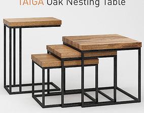 3D Taiga Oak Nesting Table