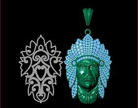 3D print model Native Pendants Full Diamond P142