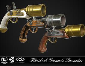 3D Flintlock Grenade Launcher 01 - 3 skins