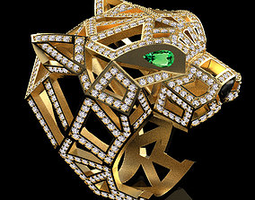 3D printable model platinum ring 1