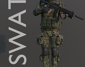 3D asset swat military commander