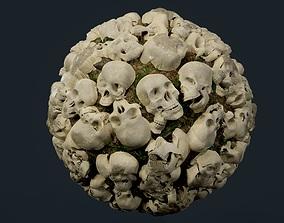 Skulls Bones Seamless PBR Texture 03 3D model