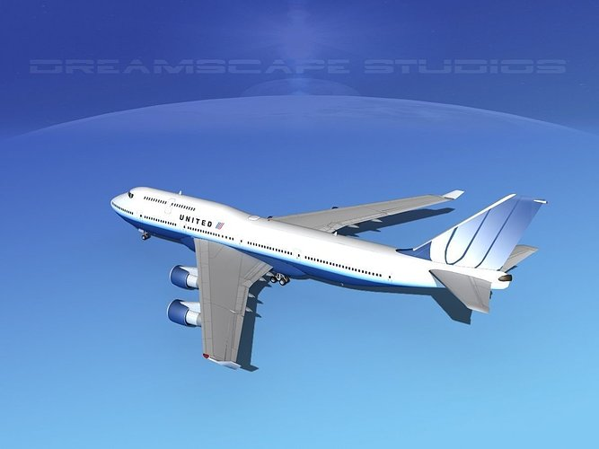 boeing-747-400-united-airlines-3-3d-mode