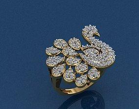 3D printable model Peacock Gold Ring