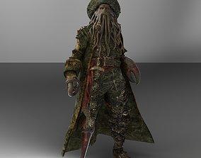 Davy Jones 3D model rigged
