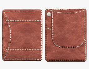 3D model Brown Leather Wallet