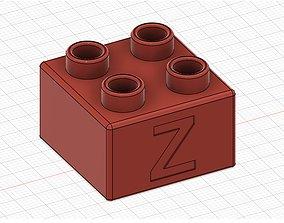 Lego Duplo compatible 2x2 Z 3D print model
