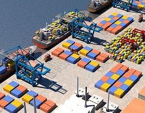 harbour 3D Cargo Dockyard