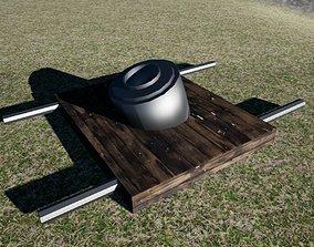 3D asset 1800y mortar