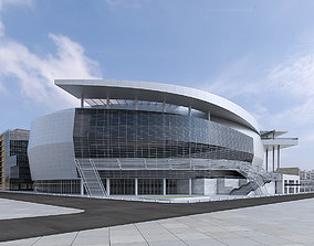 Warriors Arena Stadium 3D asset