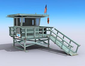 Lifeguard Station 3D asset
