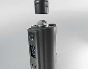3D model DoVPo Topside Dual Vape with a Profile RDA and 2