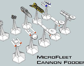 3D printable model MicroFleet Scenario-Fodder Starship