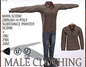 3D asset Male FANDI Clothing