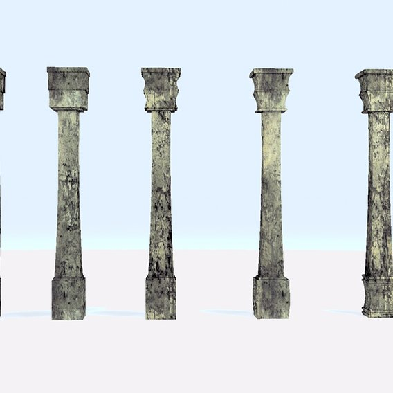 Pillar Model with Box using Taper Modifier