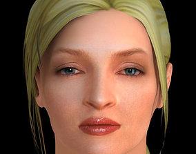 Uma Thurman Hair 3D model