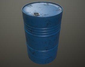 Oil drum oil gasoline 3D asset game-ready