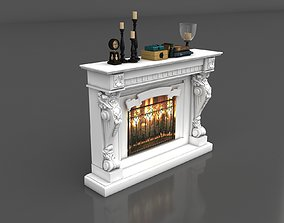 Classic Fireplace 3D model stove