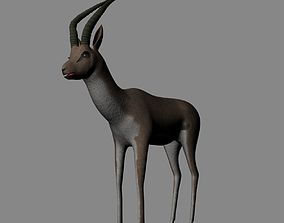 3D Rigged-Animated Gazelle