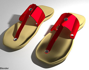 3D model Capal - malay traditional footwear