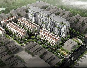 3D Model Detailed Cityscape