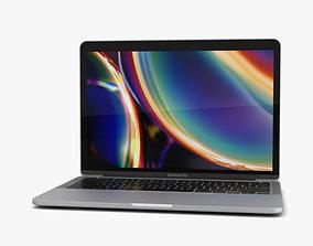 3D model Apple MacBook Pro 13 inch 2020 Silver