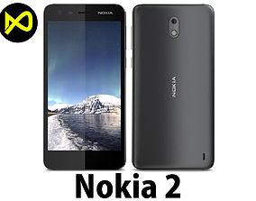 3D model Nokia 2 Black