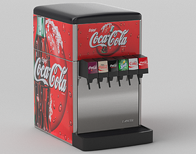 6-Flavor Counter Electric Soda Fountain System 3D