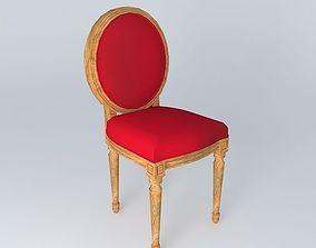 3D Louis red chair