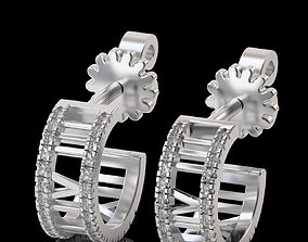 Atlas hoop earrings Tiffany 3D print model