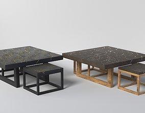 KINTSUGI COFFEE TABLE SET 3D asset