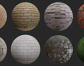 3D model Wall Pack Vol 1 block